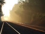 Sunrise across the tracks