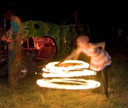 flaming hoop