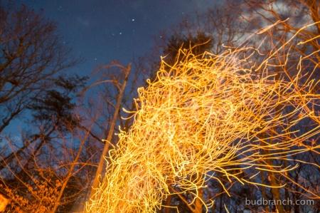 Bonfire sparks