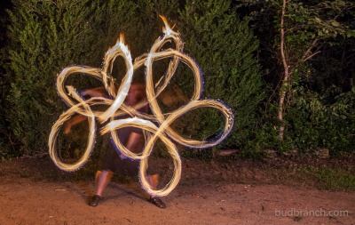 Fire spinning