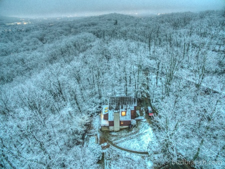 Aerial snowfall